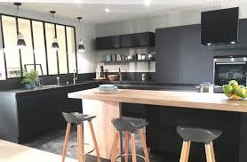 cuisine noir et deco cuisine noir et gris