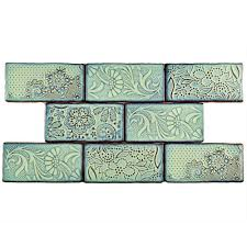 merola tile antic feelings agua marina 3 in x 6 in ceramic wall