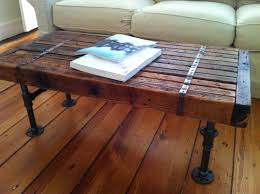 coffee tables rustic with reclaimed barnwood and steel pipe legs