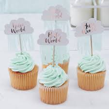 hello cupcake toppers cloud cake toppers baby shower cake topper cloud hello world