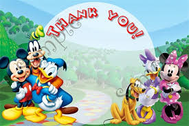 mickey mouse thank you cards mickey mouse clubhouse birthday invitation free thank you card