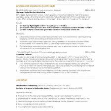 marketing resume template marketing resume template best of digital marketing resume sle