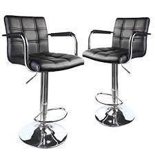 amazon com leopard modern square back adjustable bar stools with