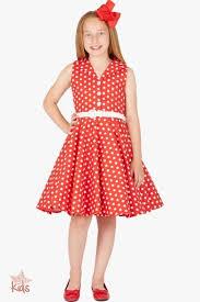 kids u0027audrey u0027 vintage polka dot 50 u0027s dress red