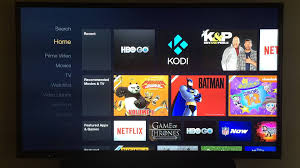 simple demo showing the amazon fire tv interface and running xbmc