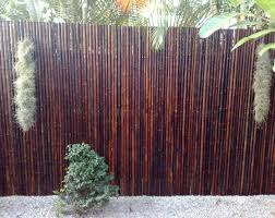 Backyard Screening Ideas Pergola Backyard Design With Bamboo Fencing And Rocks Also