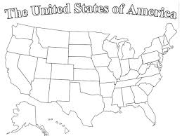 United States Map Outline by United States Labeled Map States And Capitals Of The United Usa