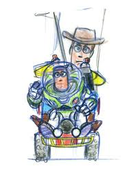 toy story at 20 see pixar concept art for buzz and woody time com