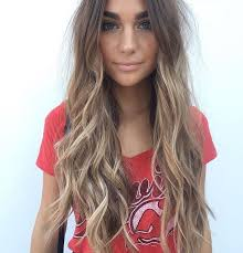 ash brown hair with pale blonde highlights long wavy dark blonde hair with pale blonde balayage balayage