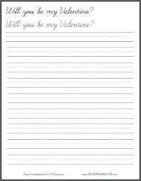 will you be my valentine handwriting practice worksheet student