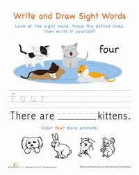 8 best kindergarten printable worksheets images on pinterest