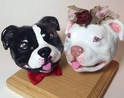 american pitbull terrier figurines pitbull statue etsy