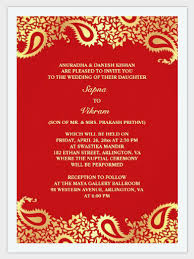 perfect sample marriage invitation card red color curtural
