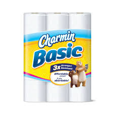 amazon com charmin basic toilet paper 9 huge rolls pack of 4
