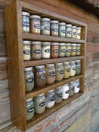 kitchen spice storage ideas rustic roughsawn 30 jar spice rack by generationfurniture