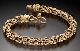 mens jewelry bracelet images Handmade 14 kt gold men 39 s jewelry bracelets larry river jpg