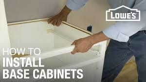 How To Take Cabinets Off The Wall How To Install Base Cabinets Youtube