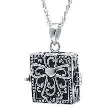 silver vintage necklace images Sterling silver vintage square cross prayer box pendant necklace