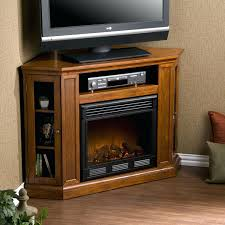 Rustic Electric Fireplace Rustic Corner Electric Fireplace Entertainment Center Oak Stand