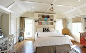 fashionable design built in headboard with nightstands ideas