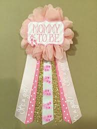 pink ballerina baby shower pin mommy to be pin flower ribbon