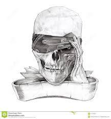 skull and bones stock illustration illustration of draw 10702387