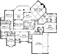 1 story 4 bedroom house plans style house plans 3091 square foot home 1 story 4 bedroom and