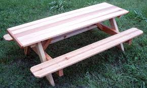 Cedar Patio Table Cedar Wood Picnic Tables An Ageless Timeless For Your Yard
