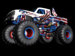 monster jam trucks names wiktor urbańczyk monster truck american flag body paint no name
