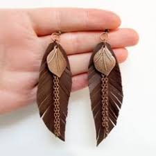 How To Make Bohemian Jewelry - leather feather earrings rich plum bohemian jewelry beautiful
