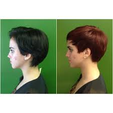 how to style short hair all combed forward combed forward pixie cut not parted sloping in front of the the