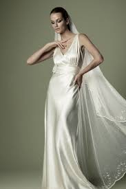 vintage satin v neck satin wedding dress star bride apparel 2017
