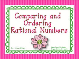comparing and ordering rational numbers activity by anna aguilar