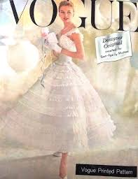 vogue wedding dress patterns 1950s beautiful and promotional vogue pattern chantilly lace
