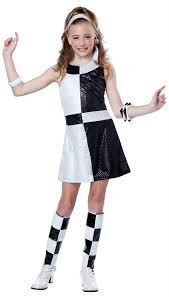 Halloween 70s Costumes Tween Black White 60 U0027s Mod Costume Candy Apple Costumes Kids