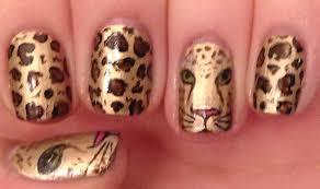 leopard face nail art tutorial youtube