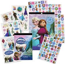amazon com disney frozen stickers tattoos party favor pack 200 amazon com disney frozen stickers tattoos party favor pack 200 stickers 50 temporary tattoos toys games