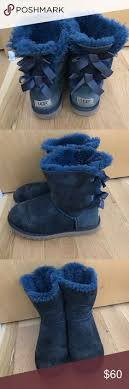 ugg bailey bow navy blue sale snowboots 39 on uggs baileys and ankle boots