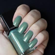 nail varnish in melange golden teal matte finish illamasqua