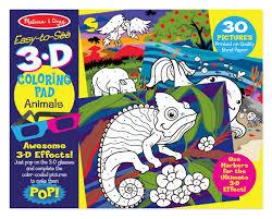 melissa u0026 doug 3d coloring book animals 9965 eci stores