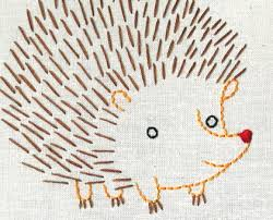 hedgehog embroidery pattern printable pdf file