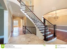 foyer with spiral staircase royalty free stock image image 11826726