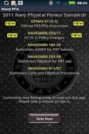 new prt standards navy pfa fitness app android fitness
