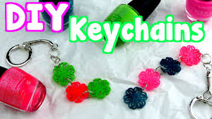 diy crafts how to make easy keychains youtube