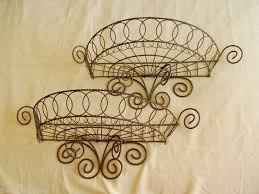 Shabby Chic Wire Baskets by 116 Best Wireware Images On Pinterest Wire Wire Art And Kitchen