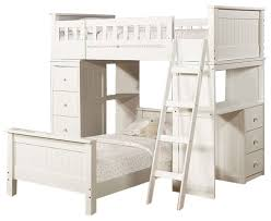 white twin size loft bunk bed chest desk all in 1 and under twin