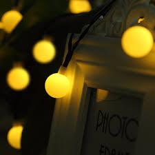 Solar Power Led Christmas Lights Solar Powered Led Christmas Light Ball Solar Garden Led String