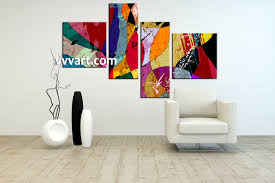 Abstract Home Decor 4 Piece Colorful Home Decor Abstract Photo Canvas