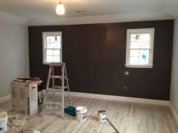 Dark Grey Accent Wall by Our Little Beehive Becoming Handy Through Home Renovation