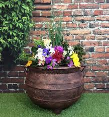 water trough planter large trough garden planter tudor style bronze effect 120 litre